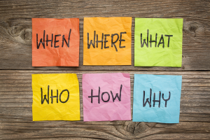 When, Where, What, Who, Why and How - Grammar rules