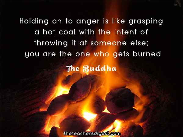 Inspirational quotes about anger by The Buddha