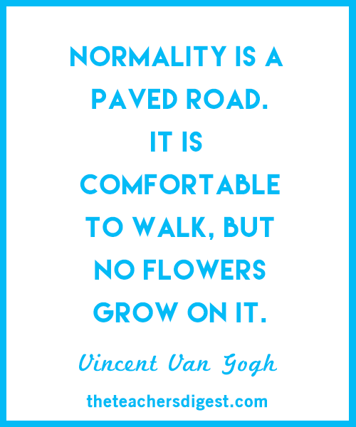 Inspirational Vincent Van Gogh quote about the road not taken.