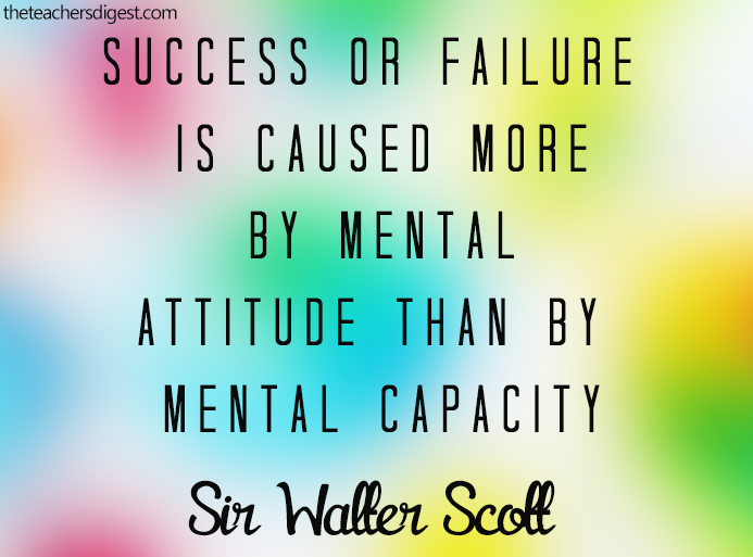 Inspirational Quotes For Principals: Quote Of The Day - Sir Walter Scott