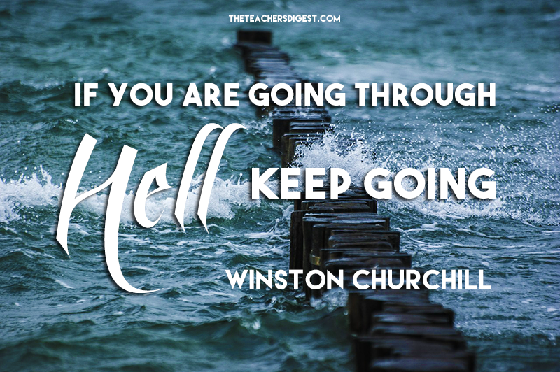 quote of the day winston churchill the teachers digest