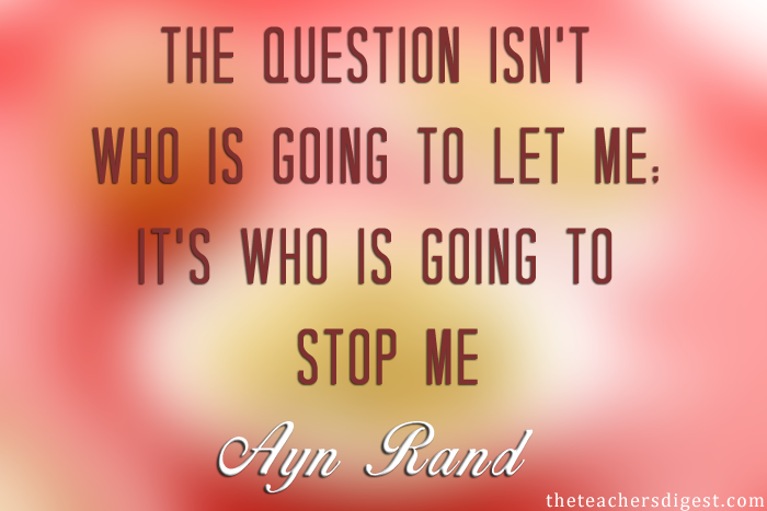 Ayn rand Inspirational quotes