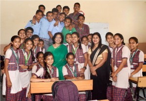 Lata Pandit With her students