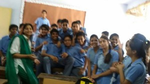 Ms. Komal Mahajan With her students