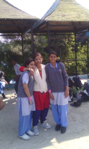 Ms. Veena Garg with her students.